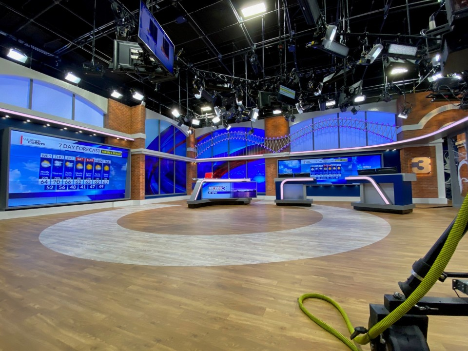 WREG's new news set, which premiered in late October 2020