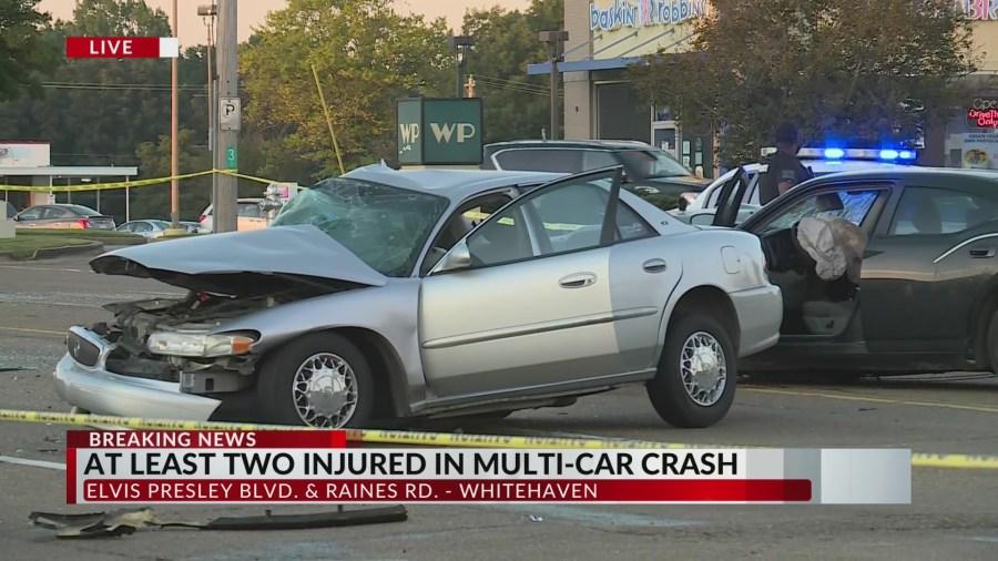 Two injured in Whitehaven crash